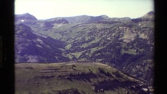 1980: nature scene at hills, coverage of roads. WESTERN USA Stock Footage
