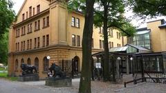 Art school Konsthogskolan in Stockholm. Sweden. 4K. Stock Footage