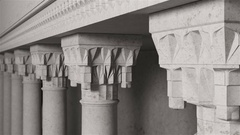Ottoman Columns. Capital view. 3d animation Stock Footage