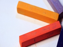 Colorful chalk pastels in rotation Stock Footage