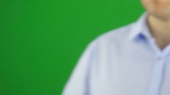 Writing the words MOBILE PAYMENTS. Green screen. Stock Footage