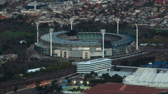 Melbourne Eureka Tower, Rod Laver Arena Stock Footage