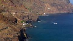View on beach Las Teresitas , Tenerife Stock Footage