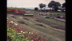 1981: memorial place with big garden NEW ZEALAND Stock Footage