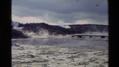 1981: steam coming out of a bubbling spring NEW ZEALAND Stock Footage