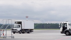 Flight Catering at Airport in 4k Stock Footage