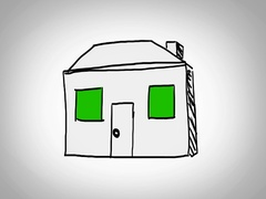 House  - Hand Drawn - Caucasian Hand - green screen - white - SD Stock Footage