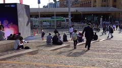 Melbourne, Federation Square, People Walking Stock Footage
