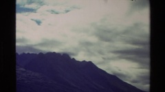 1982: cloudy day at the mountains NEW ZEALAND Stock Footage