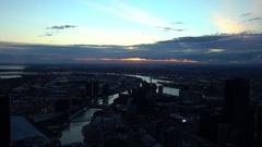 Melbourne, Eureka Tower: Melbourne Skyline ,Yarra River Stock Footage