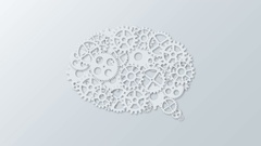 Animation modern concept bubble speech and gears rotation background. Motion 4K Stock Footage