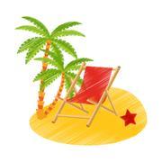 Isolated palm tree design Stock Illustration