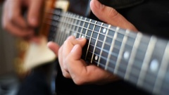 Man Playing On Guitar Stock Footage
