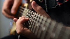 Playing Rock Solo Stock Footage