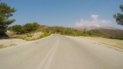Timelapse POV Driving (Drivers View ) Country road, South Europe Stock Footage