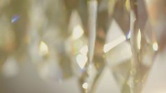 Crystal chandelier. Close up. Stock Footage