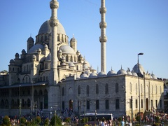 Yeni Mosque in Istanbul, Turkey. It was ordered by Safiye Sultan Stock Footage