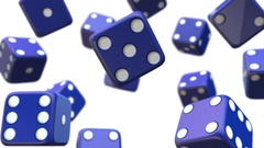Red dice symbol of gambling and luck Stock Footage