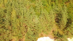 Aerial View. Flying over the beautiful mountain and beautiful forest. Aeria.. Stock Footage