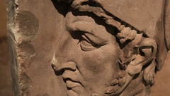 The head of the statue in the Pantheon in Paris Stock Footage