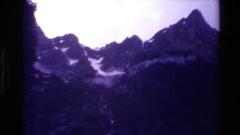 1980: the looming mountains GRAND TETON WYOMING Stock Footage
