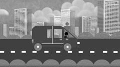 Carpooling conceptual animation motion design Stock Footage