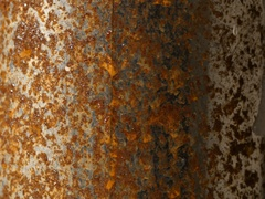 Rust texture of paintpot in rotation Stock Footage