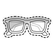Isolated fashion glasses design Stock Illustration