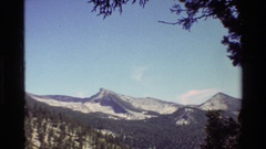 1981: naturally beautiful mountains,around the plant and trees BRITISH COLUMBIA Stock Footage