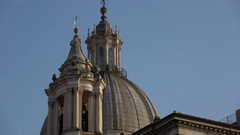 Sant'Agnese in Agone in Rome Stock Footage