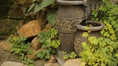 Water Jar Fountain Stock Footage