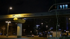 Metro Night traffic Stock Footage