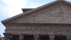 Tympanum of Pantheon in Rome Stock Footage