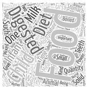 ARTIFICIAL DIET FOR INFANTS text background wordcloud concept Stock Illustration