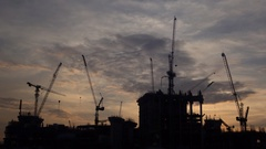 Day to night , construction site, time lapse Stock Footage