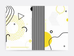 Colorful trend Neo Memphis geometric pattern Stock Illustration
