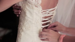 Tying the bride dresses, Morning bride Arkistovideo