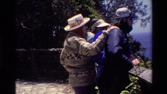 1980: several people viewing the ocean from a scenic outlook BIG SUR CALIFORNIA Stock Footage