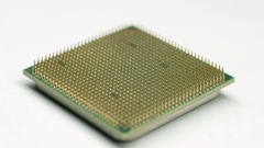CPU Processor rotating on white Stock Footage