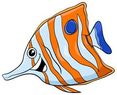 Exotic fish cartoon character Stock Illustration