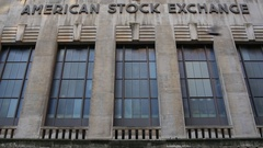 Tilt Up on Old American Stock Exchange Building Stock Video Stock Footage