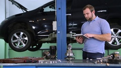 Car service. car repairs and selection of auto parts Stock Footage