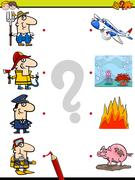Match pictures game for kids Stock Illustration