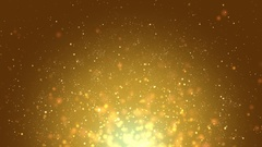 Golden Particles Raising Stock Footage