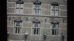 1982: big building with many windows DENMARK Stock Footage