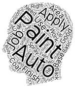 Auto Paint How To A Basic Guide text background wordcloud concept Stock Illustration