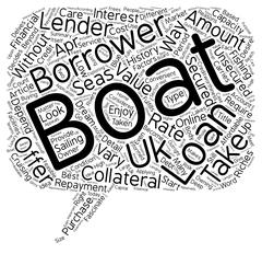 Boat Loans The Most Convenient Way To Become A Boat Owner text background wor Stock Illustration