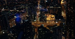 Melbourne Time Lapse from Eureka Tower, Night Stock Footage
