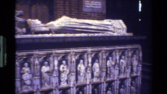 1982: closeup of saint statute in a cathedral. DENMARK Stock Footage