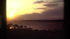 1982: beautiful night sky shining over a sleeping ocean. DENMARK Stock Footage